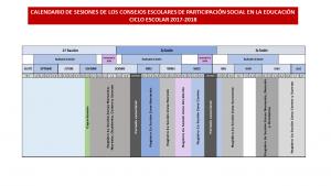 CALENDARIO DE REUNIONES DE LOS CONSEJOS ESCOLARES CICLO 2017-2018