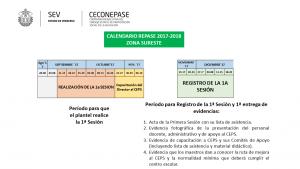 Calendario del Registro 1a Sesion